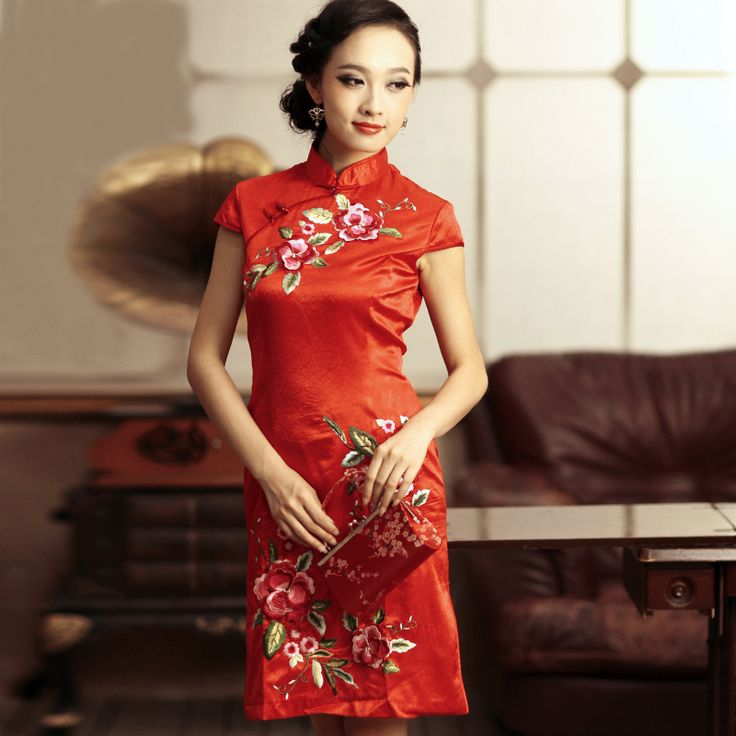 852458 peacockoflove qipao cheongsam sexy qipao for Asian red wedding dresses