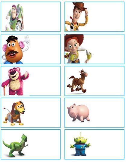 Toy Story Name Tags