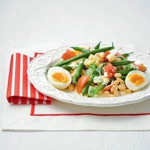 Recept - Franse maaltijdsalade met bonen en eieren - Allerhande