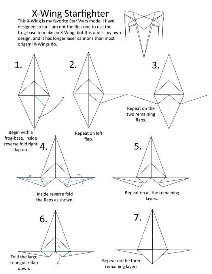 tuto x wing origami