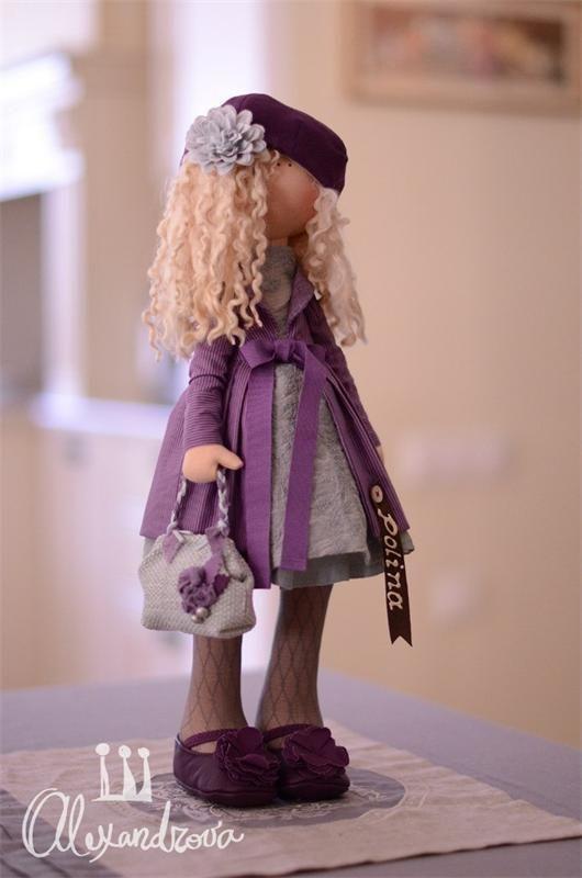 Авторская кукла Татьяны Александровой: POLINA Оригинальная идея принадлежит Татьяне Коннэ. Рост куклы 46см., тело выполнено из кукольного трикотажа, наполнитель — холлофайбер, волосы - синтетический...