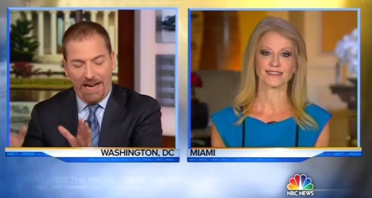 Lib Host Chuck Todd Snaps At Kellyanne Conway For Criticizing The Media - BB4SP