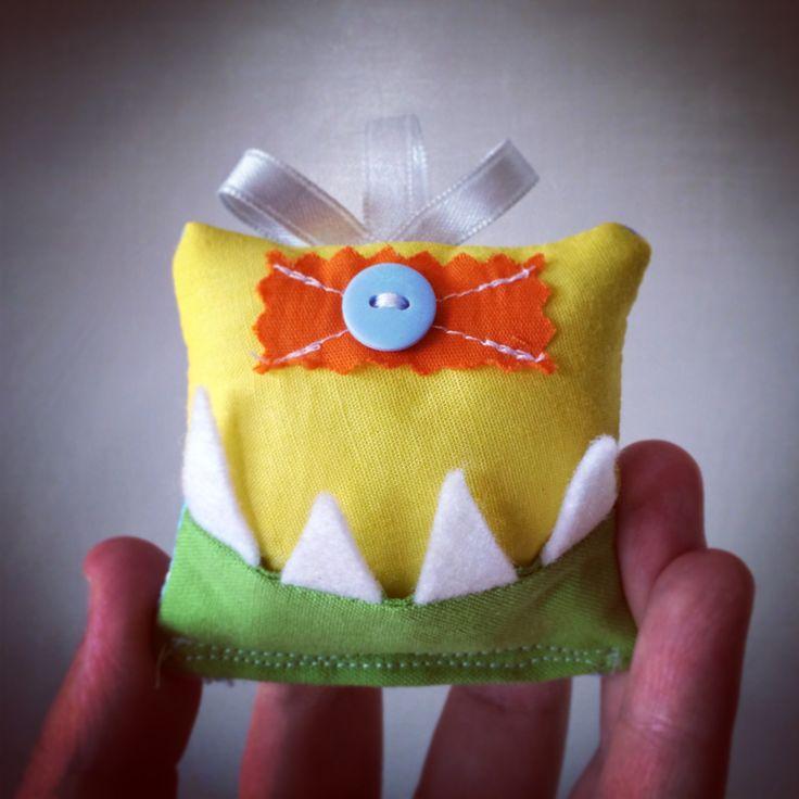 Tooth fairy monster cushion