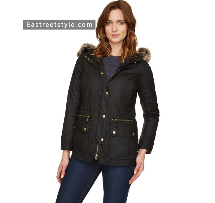 Women Barbour Kelsall Waxed Jacket at www.eastreetstyle.com #Barbour Jackets Sale