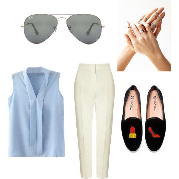 Show 'em the boss by navybluebubble on Polyvore featuring polyvore fashion style Vika Gazinskaya Free People Ray-Ban