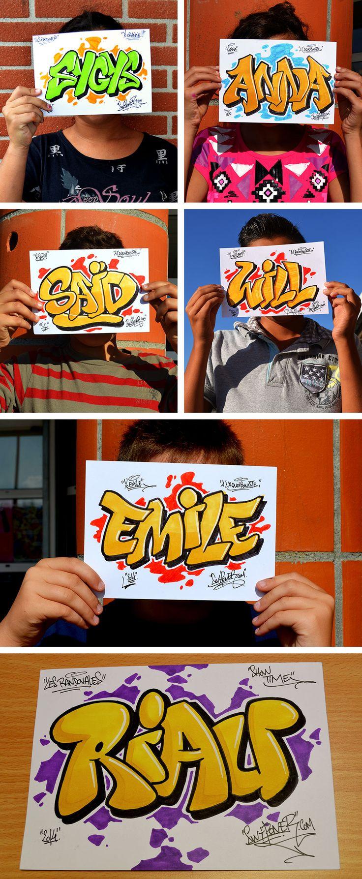 Animation graffiti prénoms par swiponer, wxp crew Toulouse, www.swiponer.com