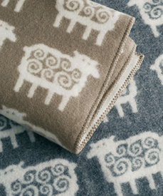 Swedish sheep blanket by Klippan Natural Textiles.