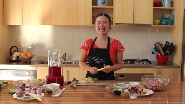 Poh Ling Yeow cooking Chicken Satay with Peanut Sauce - YouTube