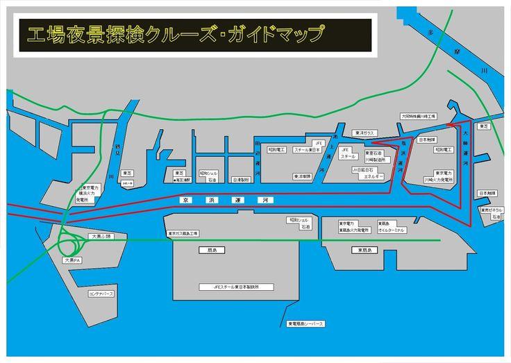 交通船で行く工場夜景探検ツアー :: 京浜フェリーボート