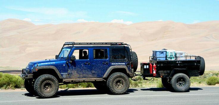 Jeep JK Unlimited w/ Trailer