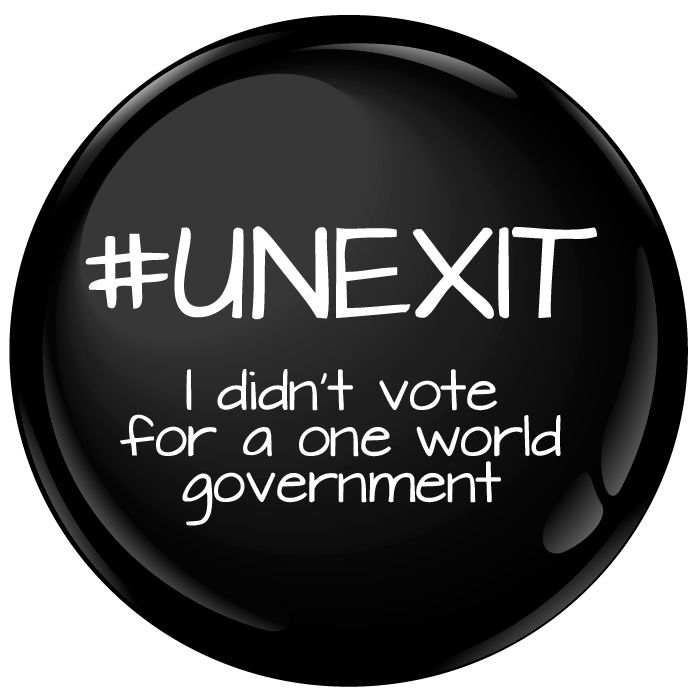#UNEXIT I Didn't Vote For A One World Government Badge - 75mm