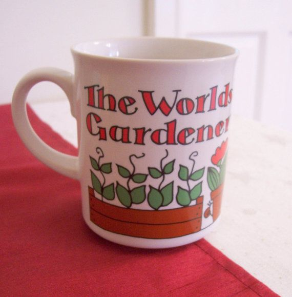 Hornsea Pottery Worlds Best Gardener Mug by Replacements4U on Etsy, £14.95