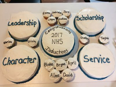 Erin's Cakes: National Honor Society Induction Cakes