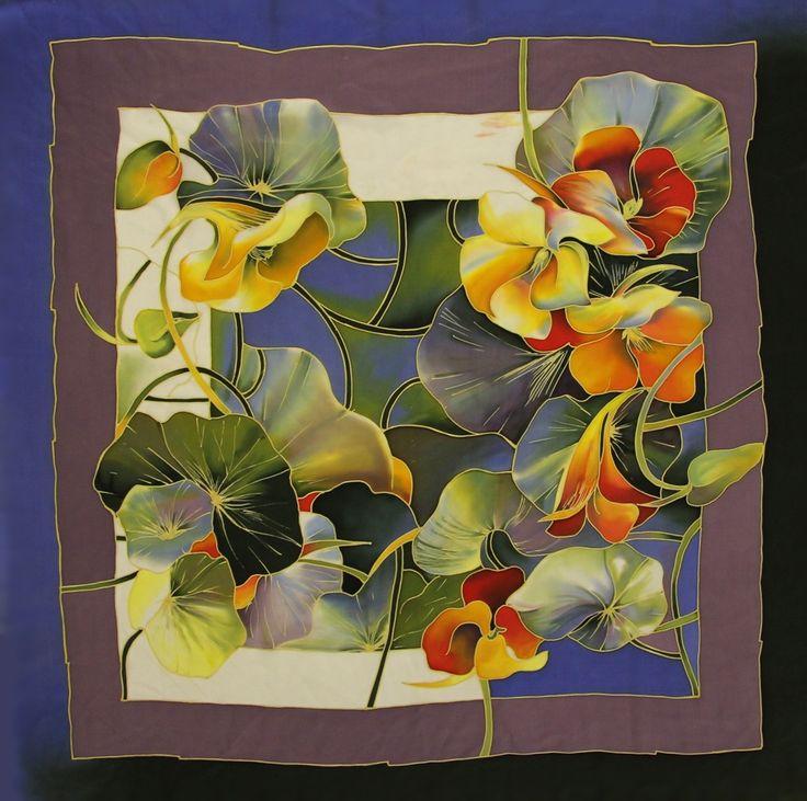Галерея Цветочная мозаика : Платок Настурция С-60