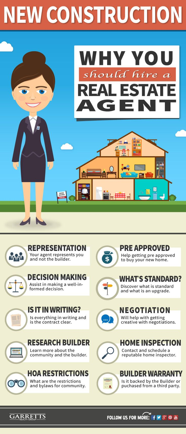 Thinking about building a new home? Learn why it may be in your best interest to hire a real estate agent when buying a new construction home.