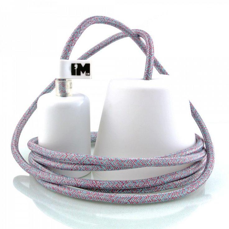 Kolorowe kable w oplocie - multikolor. http://www.sklep.imindesign.pl/product/kolorowe-kable-w-oplocie-multikolor-2-5m