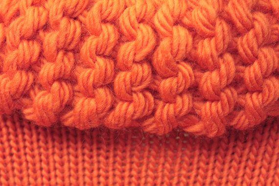 Knit jacket Bomber Jacket orange knitwear pure by quirogaquiroga