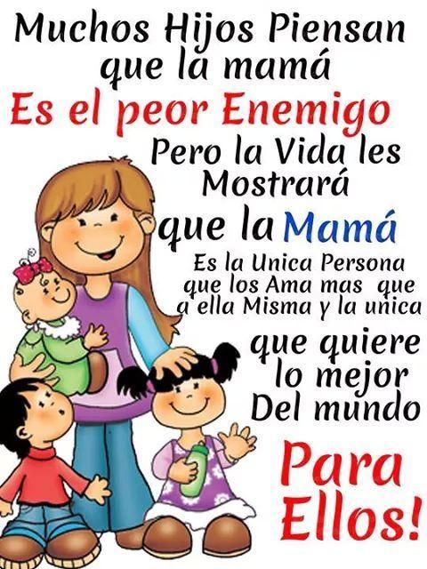 Mama Es La Mejor Amiga Te Aconseja Y Da Mucho Amoe Frases Para Madres Frases Bonitas Frases Para Hijos