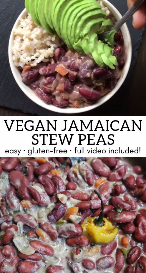 vegan jamaican stew peas with gluten free dumplings video