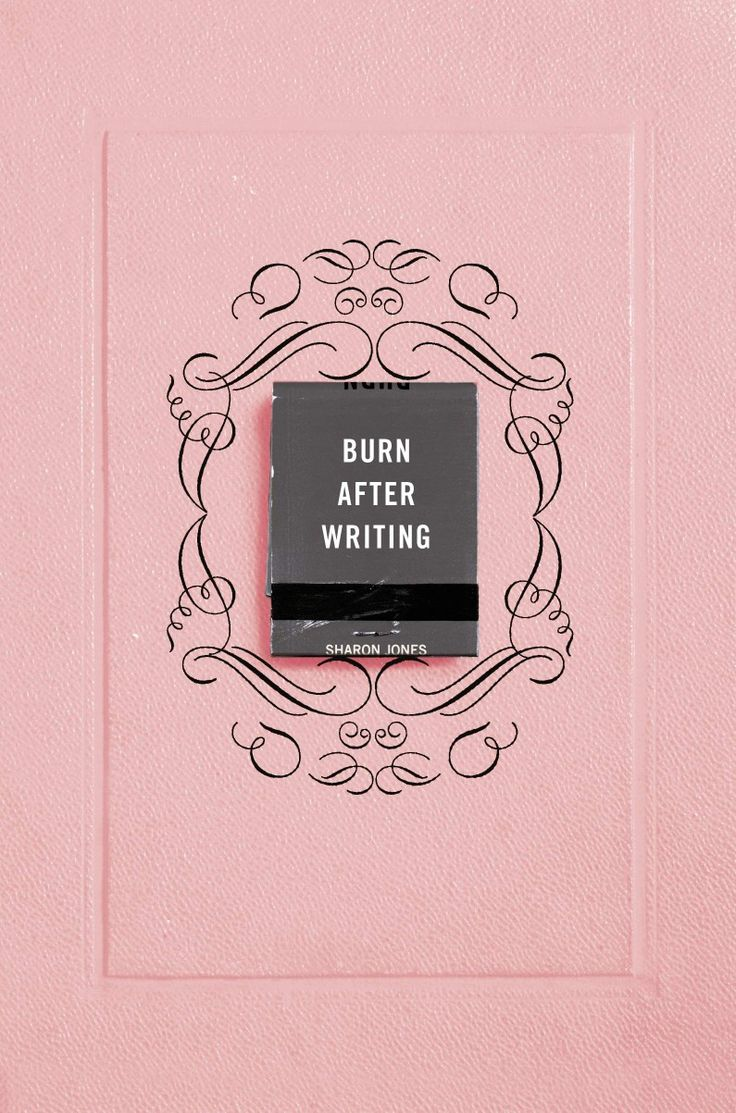 Burn after writing pink by sharon jones paperback in