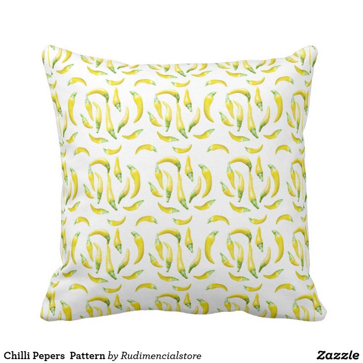 Chilli Pepers  Pattern Throw Pillow