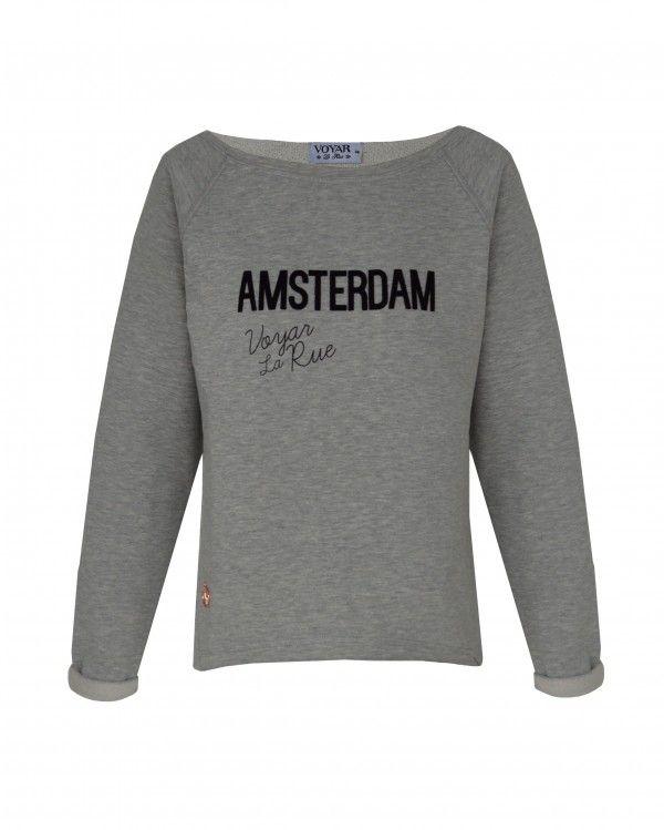 Deze heerlijke Amsterdam sweater is op www.voyarlarue.com te verkrijgen. Shop het nu want op = echt op ;)