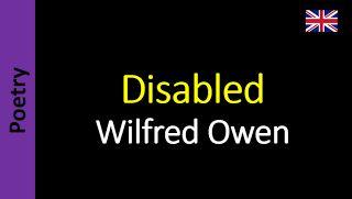 Áudio Livro - Sanderlei: Wilfred Owen - Disabled
