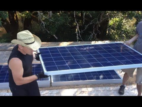 ▶ How to install 4100 Watt Solar Panel Array: Solar Off-Grid System Installation Video 22 - YouTube