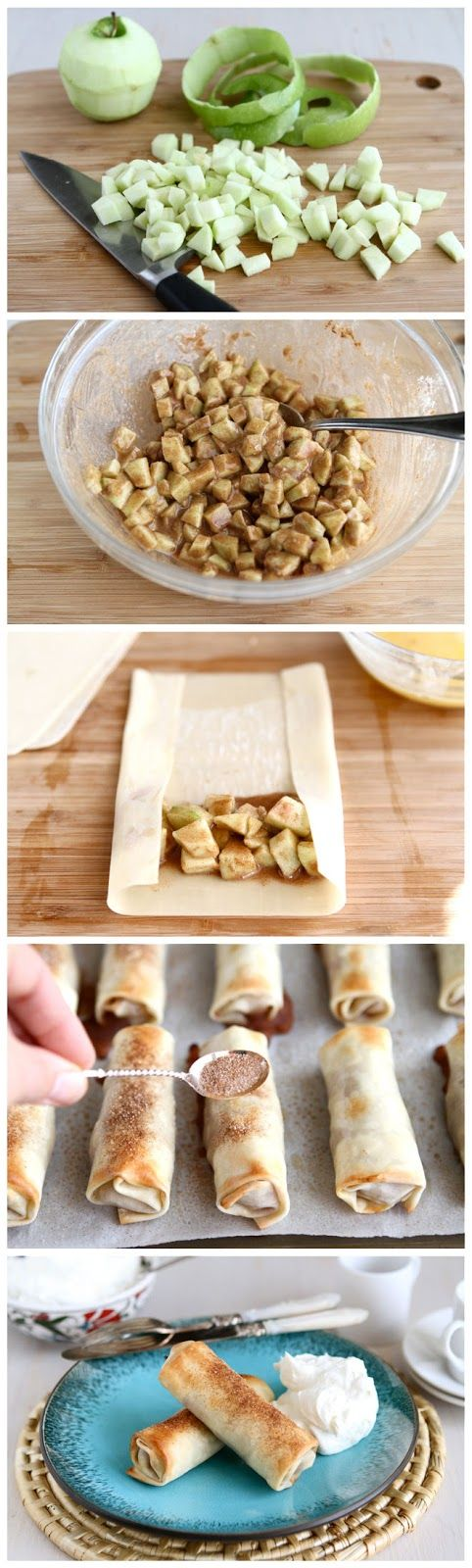 kiss recipe: Baked Apple Pie Egg Rolls