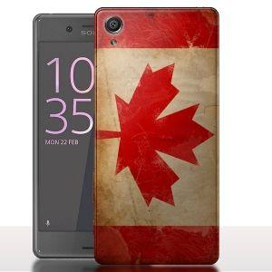 Coque Sony Xperia X Etendard Canadien / Drapeau Canada