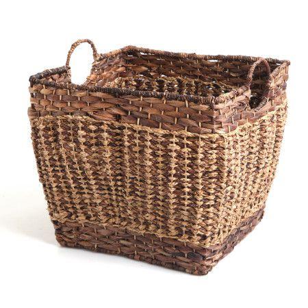 Deep Wicker Basket Dark Brown X-Large Multi Frame 45x45cm 67tl