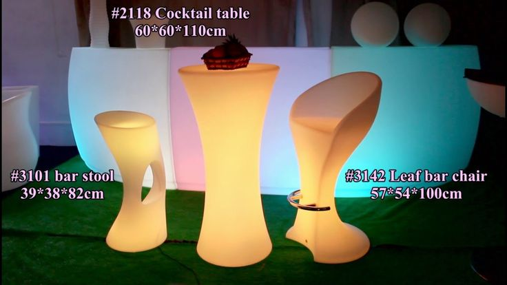 Cocktail party table modern LED bistro table hot sale led furniture