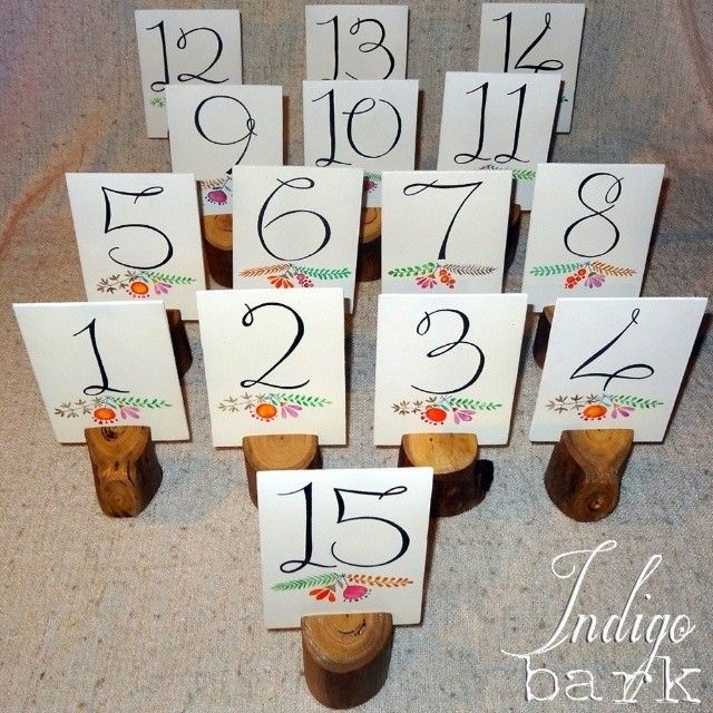 Table numbers in our rustic log holders by @indigobark https://www.facebook.com/IndigoBark. Order complete, drying, then ready to head to their new home. Beautiful artwork done by Blackboard Artworx. #rusticcafesupplies #rusticstyling #rusticweddingsupplies #eventhire #weddingstyling #handmade #homedecor #rusticwedding #weddingtablenumbers #tablenumbers