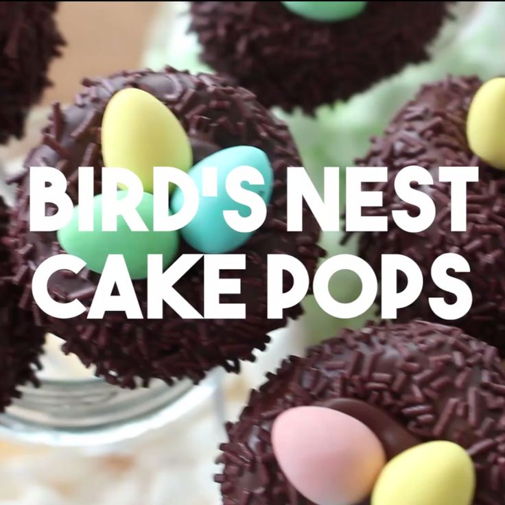 Nothing says spring like cake pops that look like nests! These are filled with the most delicious kind of egg – mini eggs!