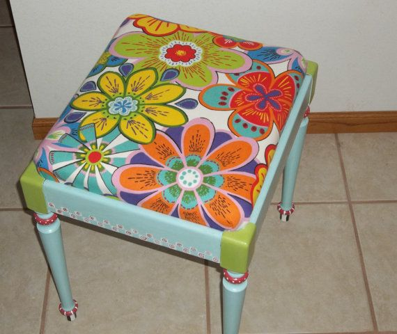 Sewing Storage Bench on Etsy by BrilliantlyFunky  Check out my new shop!