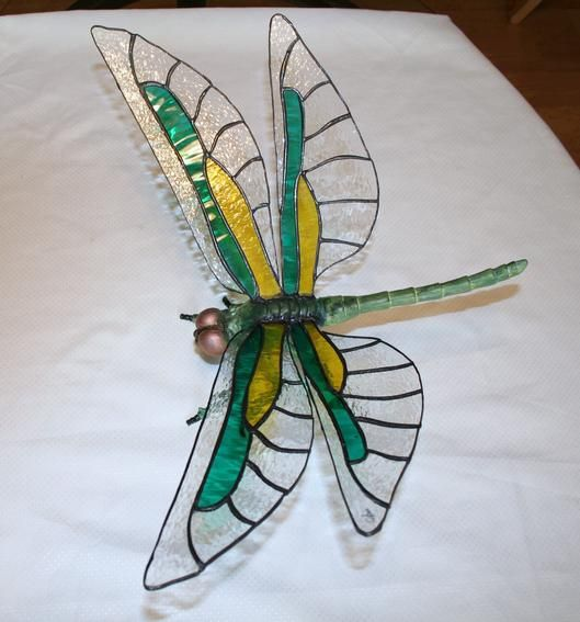Dragonfly by lowrider04 - The body is made of metal componants that had to be assembled and painted, it has a 10 inch wingspan.