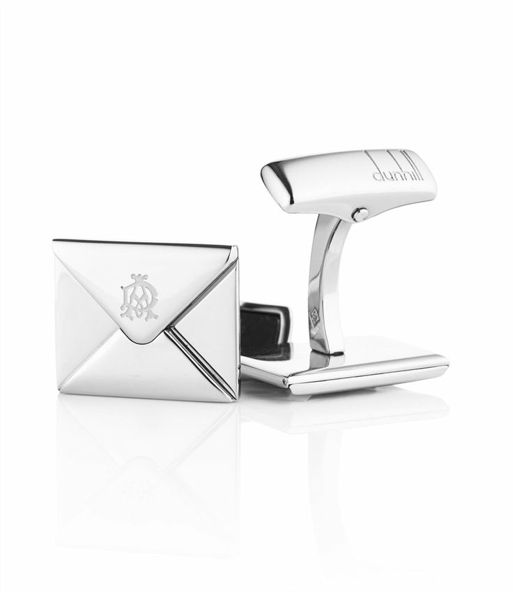 Dunhill Envelope Silver-tone Cufflinks - Silver Q9I8ebJ