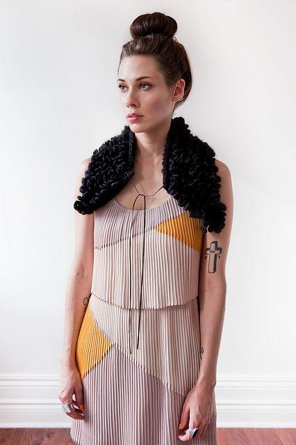Ravelry: markham loop collar / good night, day pattern by Tara-Lynn Morrison