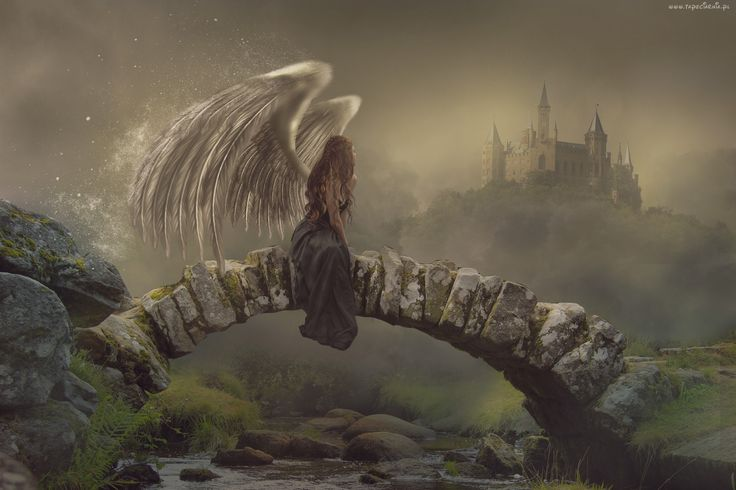 Anioł, Most, Zamek, Fantasy