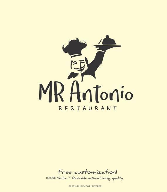 Mr Antonio Logo Chef Logo Kitchen Logo Meal Logo Dish Logo