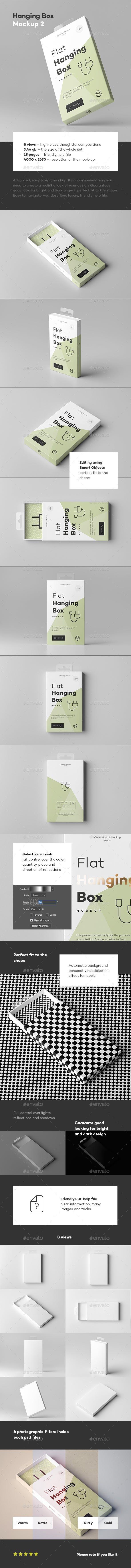 Download Hanging Box Mock Up 2 For 6 Packagingtemplates Psd Templatedesign Mockupdesign Graphic Packagi Graphic Design Templates Template Design Packaging Mockup