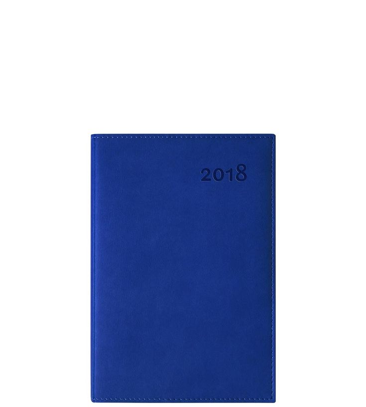 """POLO-B : 2018 agenda (January to December), 1 day per page, monthly planning section, 352 pages,12,5 x 18,5 cm (5 x 7 1/4""""), designed in Quebec, Canada; printed in China, acid-free sustainable forest paper, soy-based ink, cover material free of toxic substances (ROHS), printed end sheets, soft cover, ivory coloured paper, perforated corners, sewn binding."""