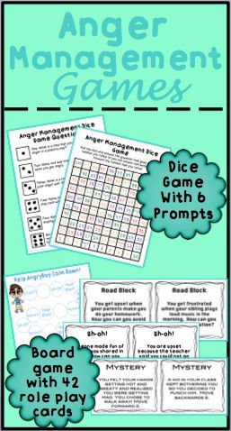 Anger management games to help students learn about identifying anger, triggers, and coping skills.