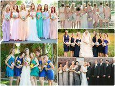 Amerikai stílusú, fényűző esküvő - Gyönyörű koszorúslány és örömanya ruhák