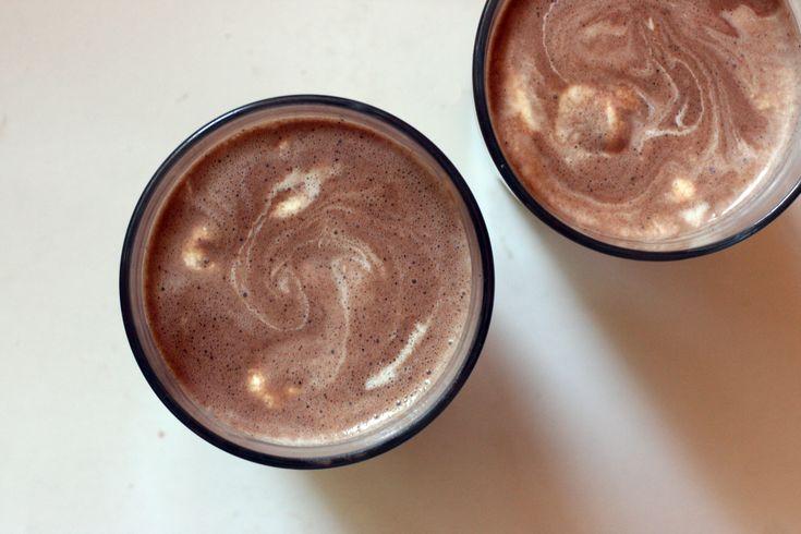 Chocolate Peanut Butter Protein Milkshake #glutenfree