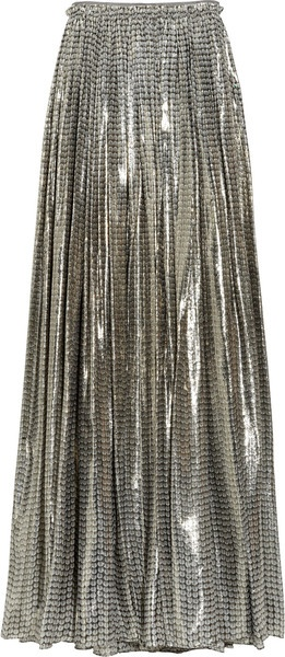 Printed Silk-blend Lamé Maxi Skirt. I would rock this and get my Studio 54 ALL the way on