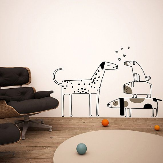 Love Dogs Wall Decas Wall Stickers Big And By GreenFatHorses