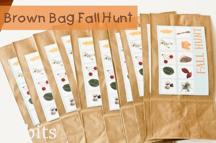 Brown Bag Fall Hunt by Cami at Tidbits...so much fun for the kids!