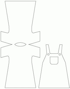 girl dungarees template