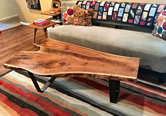 Live Edge Black Walnut Coffee Table by ABPWorks on Etsy